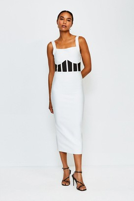 Karen Millen Bandage Knit Caged Dress