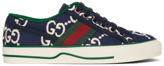 Gucci Navy GG Tennis 1977 Sneakers