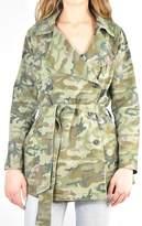 Mystree Camo Trench Jacket