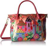 Anuschka Anna Handpainted Leather Slouch Tote Bag