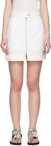 Isabel Marant White Workwear Denim Demie Miniskirt
