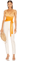 Jonathan Simkhai Ombre Cashmere Wrap Top in Amber Ombre | FWRD