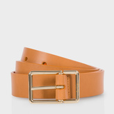 Paul Smith Women's Tan Leather Belt With Contrasting Orange Lining