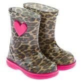 Igor IgorGirls Leopard & Fuchsia Heart Pipo Rain Boots