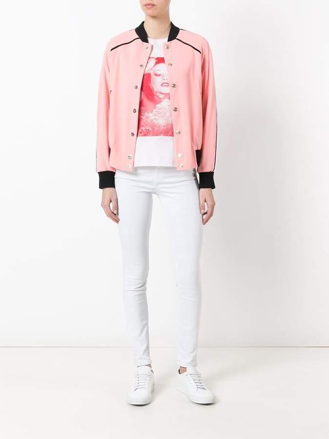 Kenzo embroidered back bomber jacket