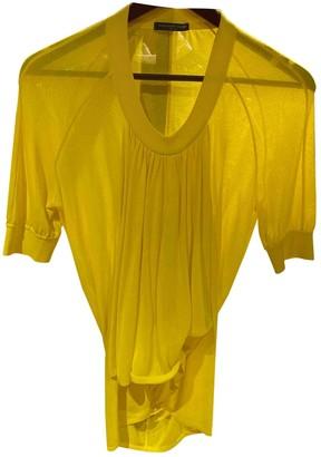 Alexander McQueen Yellow Viscose Tops