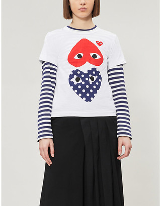 Comme des Garcons Heart applique pure cotton T-shirt