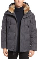 Andrew Marc Men's Darien Genuine Rabbit Fur Trim Down/feather Jacket