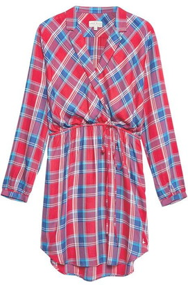 Jack Wills Hedley Checked Wrap Shirt Dress