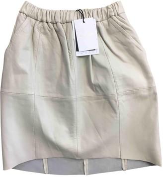 Sass & Bide Ecru Leather Skirts