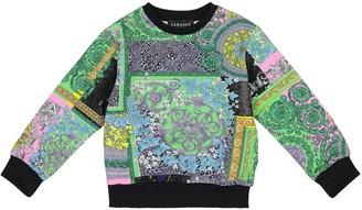 Versace Kids Barocco printed cotton sweatshirt