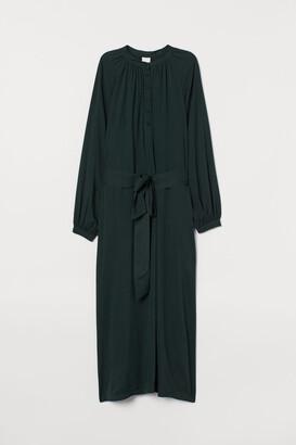 H&M Dress with Tie Belt - Green