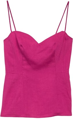 Theory Sweetheart Linen Camisole