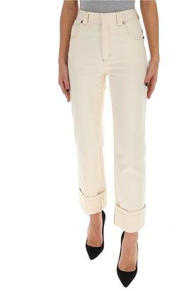 Chloé Cuffed Straight-Leg Jeans