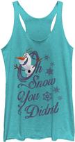 Fifth Sun Frozen Tahi Blue 'Oh Snow You Didn't' Racerback Tank - Women