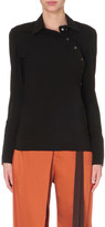 Ann Demeulemeester Asymmetric crepe shirt
