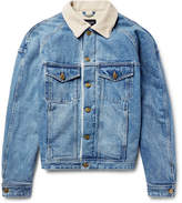 Fear Of God Corduroy-Trimmed Faux Shearling-Lined Denim Jacket