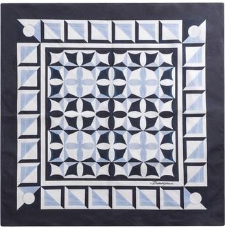 Dolce & Gabbana Geometric Print Cotton Scarf