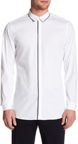 The Kooples Contrast Trim Fitted Shirt