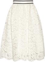 Alice + Olivia Kizzy guipure lace skirt