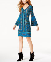 INC International Concepts Studded Bell-Sleeve Dress, Created for Macy's