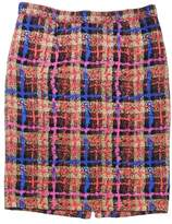J.Crew J. Crew Collection MultiColor Print Silk Pencil Skirt 2