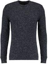 Superdry Scarfell Crew Jumper Mottled Anthracite