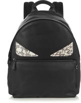 Fendi Bag Bugs leather and snakeskin backpack