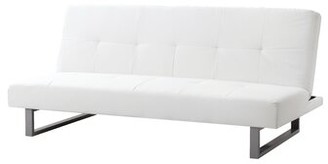"""Ebern Designs Chavez 70"""" Armless Sleeper Fabric: White Faux Leather"""