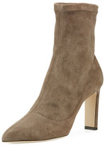 Jimmy Choo Louella Stretch-Suede Bootie
