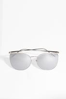 Linda Farrow Luxe White Gold Thin Frame Sunglasses