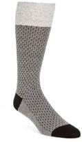 Cole Haan Men's Dog Bone Texture Crew Socks