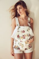 BDG Pinup Floral Denim Shortall Overall