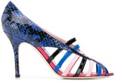 Emilio Pucci Blue Elaphe Strappy Sandals