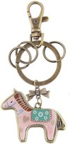 Generic Retro Cute Horse Pendant Alloy Key Ring w/ Lobster Clasp Bronze