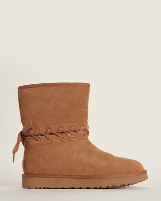 UGG Chestnut Classic Lace Short Shearling-Lined Boots