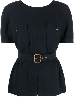 Chanel Pre Owned 1995 Belted Waist Blouse
