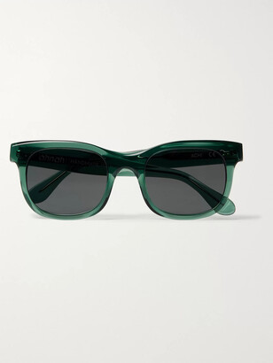 Ahnah Wim Round-Frame Tortoiseshell Bio-Acetate Polarised Sunglasses