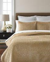 Martha Stewart $60 Bedding 1079 Beige Diamond Plush Pillow Sham 21 X 27