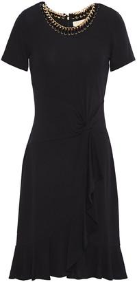 MICHAEL Michael Kors Chain-trimmed Twisted Stretch-jersey Mini Dress