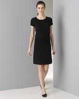 Women's Cotton/Cashmere Short Sleeve Black Dress