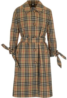 Burberry Vintage Check Single-Breasted Coat