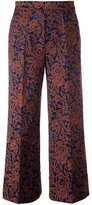 Twin-Set cropped jacquard trousers