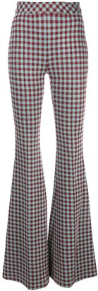 Rosetta Getty Gingham Flared Trousers