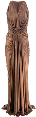 Rick Owens Lilies Pleated Sleeveless Gown