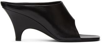 Totême SSENSE Exclusive Black Leather Open Toe Mule