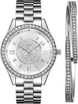 JBW Women's J6303-SetA Mondrian Jewelry Set 0.16 ctw Stainless Steel Diamond Watch