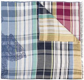 Etro Plaid Print Lightweight Scarf