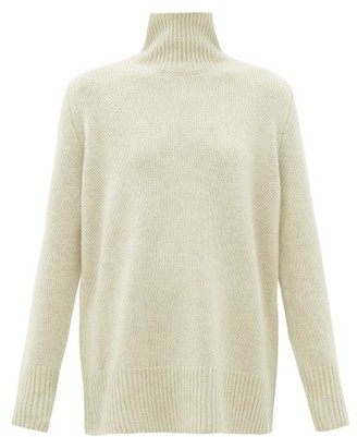 The Row Sadel Roll-neck Cashmere Sweater - Womens - Beige
