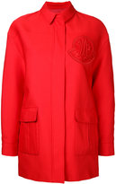 Moncler Gamme Rouge single breasted coat - women - Cotton - 0